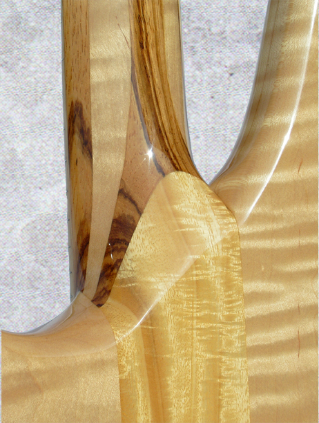 Maple guitar Neck joint